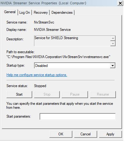Disable Nvidia streamer service in task manager