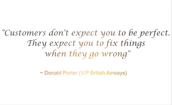 Donald Porter on customer service quote