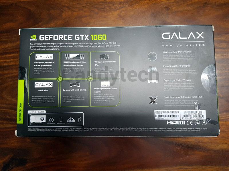 Review Galax Nvidia GTX 1060 EXOC