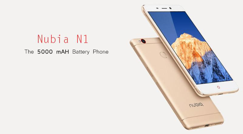 5000 mAH Battery Capacity Nubia N1 Launched On Amazon