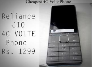 JIO Cheapest 4G VOLTE Phone First Look