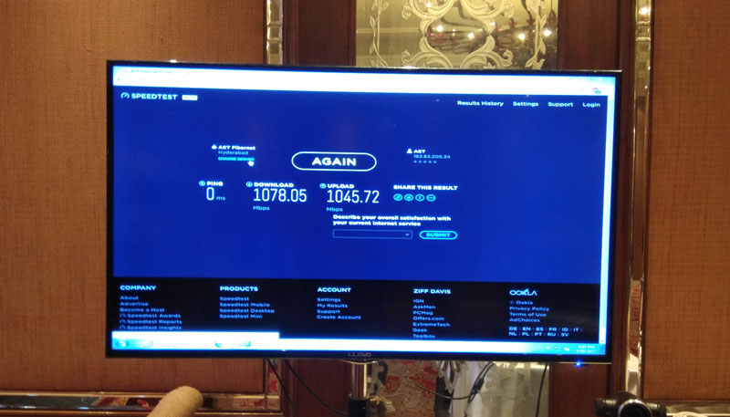Fastest Broadband in India 1000 MBPS From Fibernet Launched