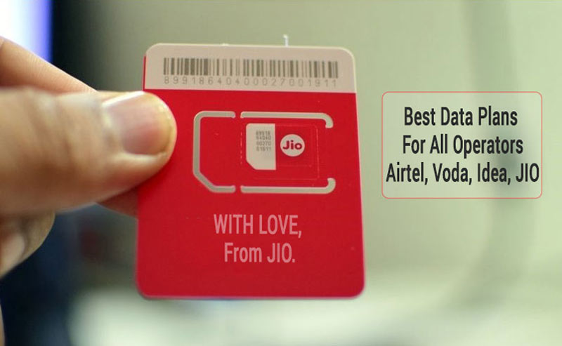 Best Prepaid Plans India - JIO, Idea, Airtel, Vodafone