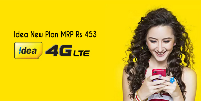 Idea 453 Pack offers 1 GB Per data and UL Voice for 84 Days