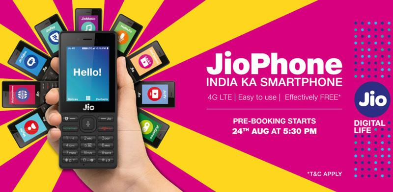JIO Phone pre-booking Starts