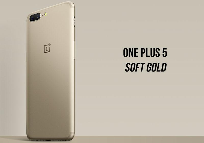 OnePlus 5 Soft Gold Images
