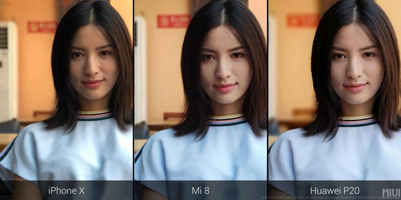 Xiaomi Mi8 portrait mode
