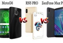 Moto G6 VS Redmi Note 5 PRO VS Asus Zenfone Max Pro M1