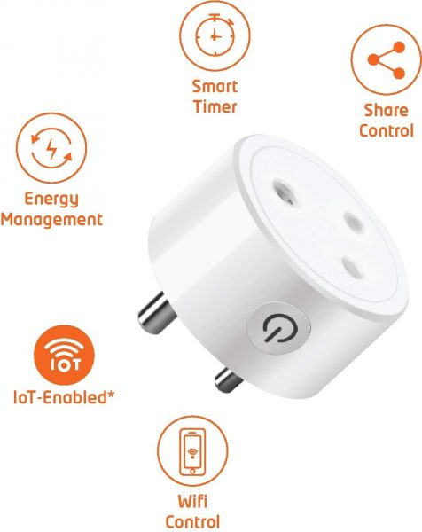 Orient Electric i-Nex WiFi enabled Smart Socket Plug 10A