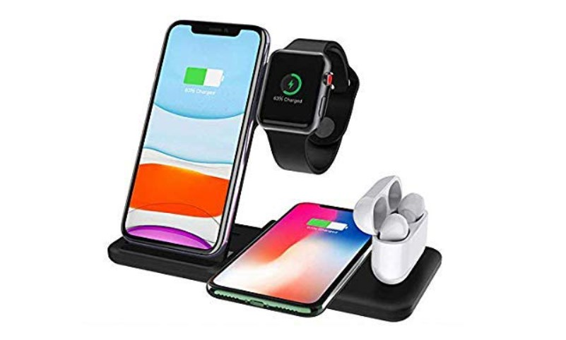 Spazy Case® 4 in 1 Qi-Certified Wireless 15W Fast Charger Station