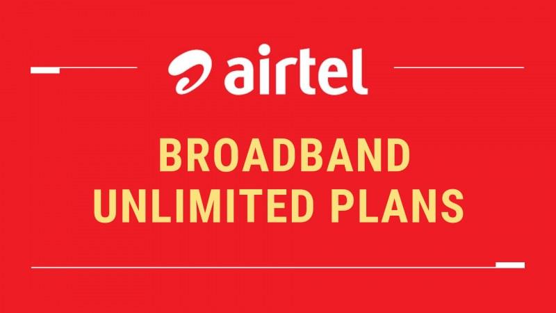 Airtel broadband plans
